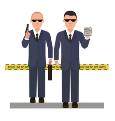 Two security agents vector