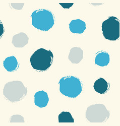 watercolor hand painted polka dot seamless pattern vector image