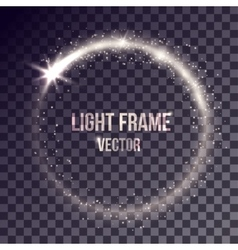 White light frame vector