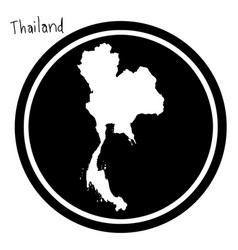 White map of thailand on black vector