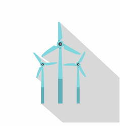 windmill icon flat style vector image