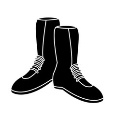 winter boots isolated vector image