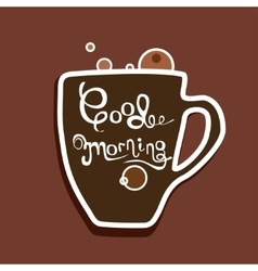 with hand-drawn lettering vector image