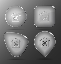 Workshop Glass buttons vector image