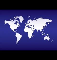 world map blue ocean vector image