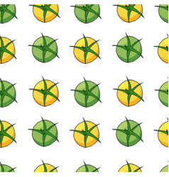 yellow and green tomatoes pattern vector image