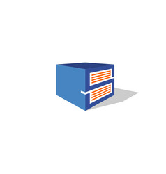 abstract storage logo vector image vector image