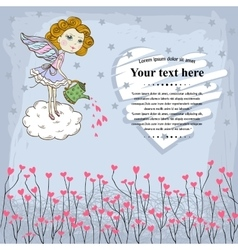 Card for your design with fairy vector image vector image