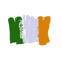 Ireland lag painted by brush hand paints Art flag vector image vector image