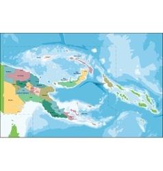 Papua new guinea map vector