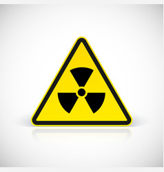 Radiation hazard symbol vector image