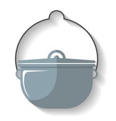 tourist cauldron icon isolated vector image