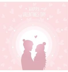happy love in hats vector image