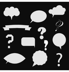 question mark in colorful vector image vector image