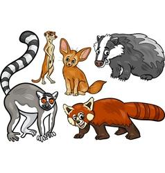wild animals set cartoon vector image vector image