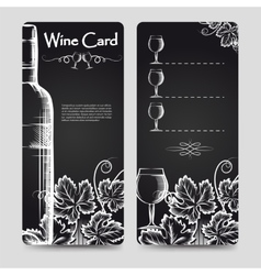 Wine card menu flyers template vector image