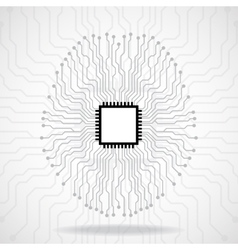 Brain Cpu Circuit board Abstract technology vector image