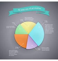 business pie chart template vector image vector image