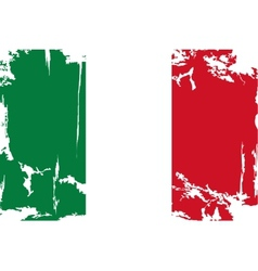 Italian grunge flag vector image vector image