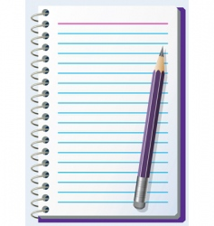 note pad with pencil vector image