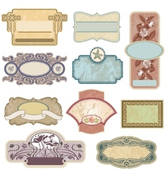 Ornate vintage labels vector image