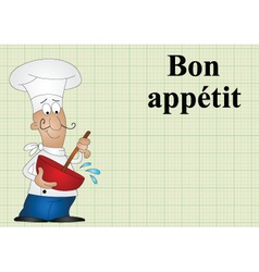 Bon appetit vector image vector image