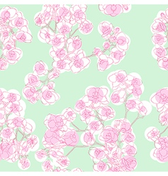 colored orchids pattern vector image vector image
