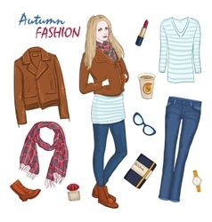 Fashionable Clothing Women Composition vector image vector image