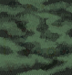Octagon camouflage seamless pattern green black vector image