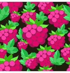 pattern of raspberries on background vector image vector image