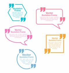 quotation quotation speech bubbles set vector image vector image