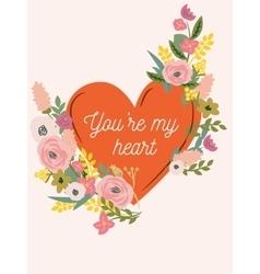 VD heart 2 vector image