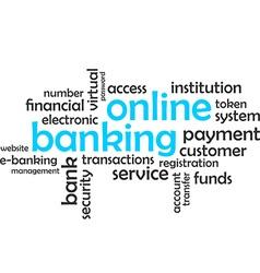word cloud online banking vector image