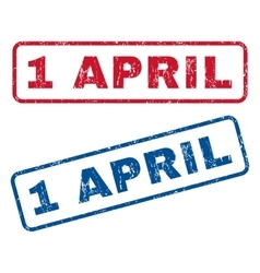 1 April Rubber Stamps vector image