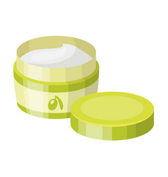 a can of olive creamolives single icon in cartoon vector image