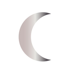 abstract moon shape vector image