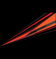 Abstract red orange grey speed line on black vector