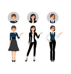 Adult business women set vector