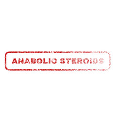 Anabolic steroids rubber stamp vector