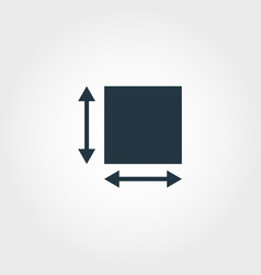 Area measurement icon from measurement icons vector