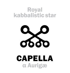 Astrology capella the royal behenian kabbalistic vector