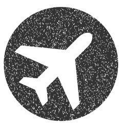 Avion icon rubber stamp vector