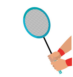 badminton racket design vector image