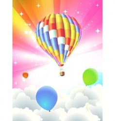 balloon abstract background vector image