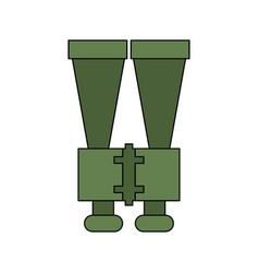 binoculars spy object vector image
