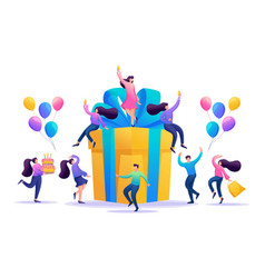birthday party drink champagne and have fun vector image