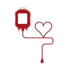 blood bag symbol vector image