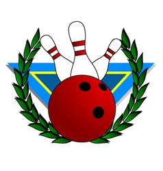Bowling alley symbol vector