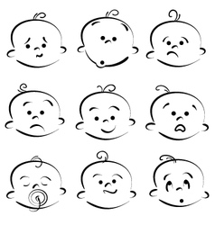 Cartoon baby face vector