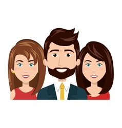 cartoon people resources human group team vector image